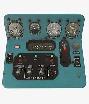 Mi-8MT Mi-17MT Central Panels Board Russian - Extended License 3D Game Models : OBJ : FBX 3D Models Extended Licenses pukamakara