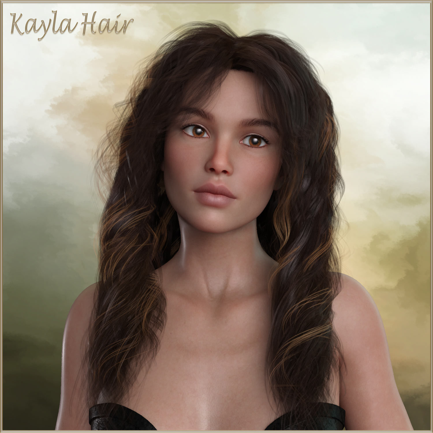 Kayla Hair For G3 G8 Daz by RPublishing