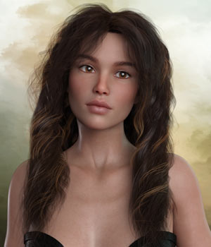 Kayla Hair For G3 G8 Daz 3D Figure Assets RPublishing