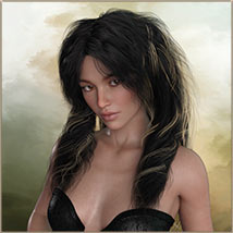 Kayla Hair For G3 G8 Daz image 1