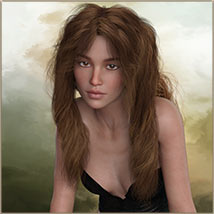 Kayla Hair For G3 G8 Daz image 2