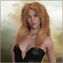 Kayla Hair For G3 G8 Daz image 3