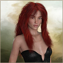 Kayla Hair For G3 G8 Daz image 6