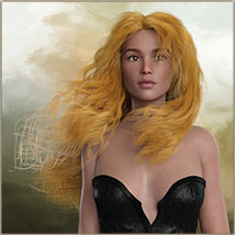 Kayla Hair For G3 G8 Daz image 9