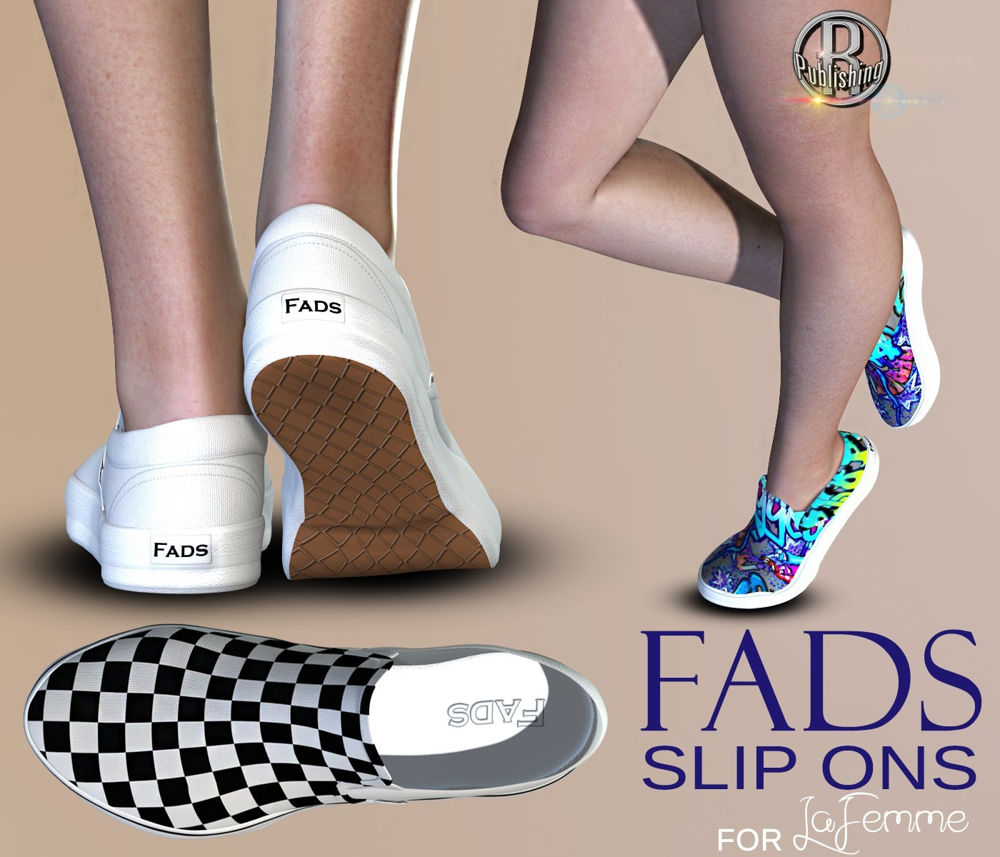 FADS Slip Ons for La Femme and Poser 11 by RPublishing