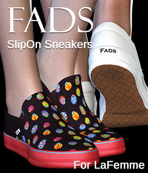 FADS Slip Ons for La Femme and Poser 11 3D Figure Assets La Femme Pro - Female Poser Figure RPublishing