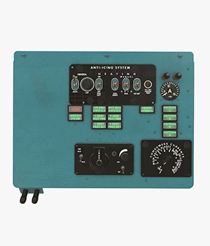Mi-8MT Mi-17MT Left Overhead Panels Board English - Extended License 3D Game Models : OBJ : FBX 3D Models Extended Licenses pukamakara