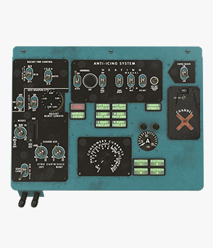 Mi-8MT Mi-17MT Left Overhead Panels Board English 2  - Extended License 3D Game Models : OBJ : FBX 3D Models Extended Licenses pukamakara