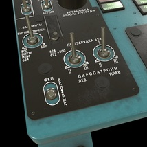 Mi-8MT Mi-17MT Left Overhead Panels Board Russian 2 - Extended License image 1