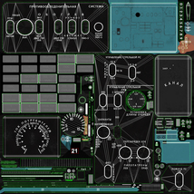 Mi-8MT Mi-17MT Left Overhead Panels Board Russian 2 - Extended License image 10