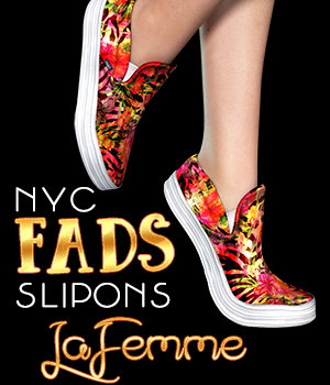 NYC Fads SlipOns for La Femme 3D Figure Assets La Femme Pro - Female Poser Figure 3DSublimeProductions