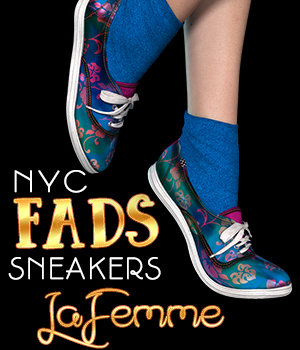 NYC FADS Sneakers for La Femme and Poser 3D Figure Assets La Femme Pro - Female Poser Figure 3DSublimeProductions