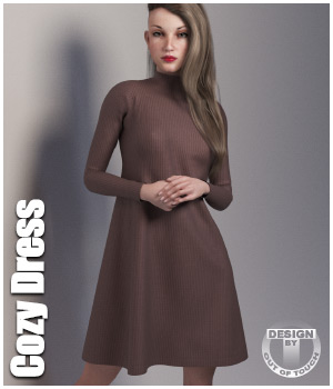 Cozy Dress for La Femme  3D Figure Assets La Femme Female Poser Figure outoftouch