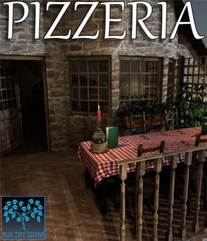 Pizzeria for Poser 3D Models BlueTreeStudio