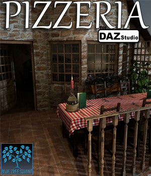 Pizzeria for Daz Studio 3D Models BlueTreeStudio