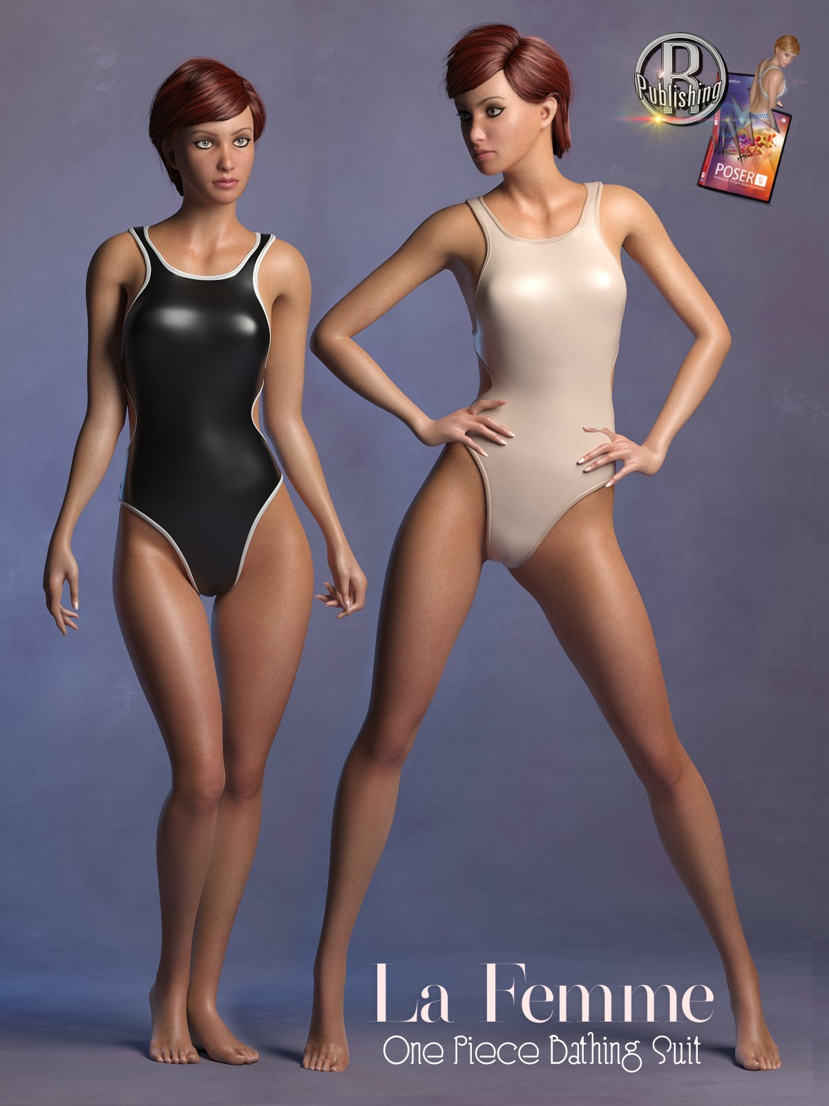 1 Piece Bathing Suit for La Femme for Poser 11 by RPublishing
