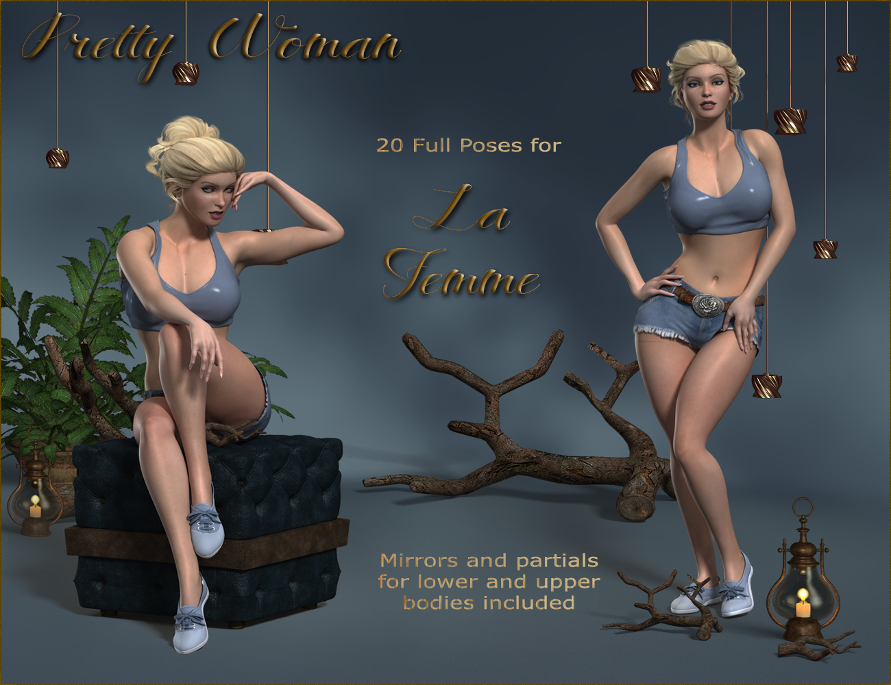 Pretty Woman Poses for La Femme by ilona