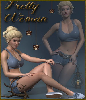 Pretty Woman Poses for La Femme 3D Figure Assets La Femme Female Poser Figure ilona