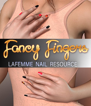 Fancy Fingers - La Femme - MR 3D Figure Assets La Femme Pro - Female Poser Figure Merchant Resources 3DSublimeProductions