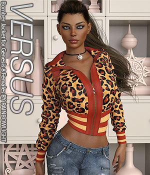 VERSUS - Bomber Jacket for Genesis 8 Females 3D Figure Assets Anagord