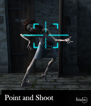 Point and Shoot 3D Models biala