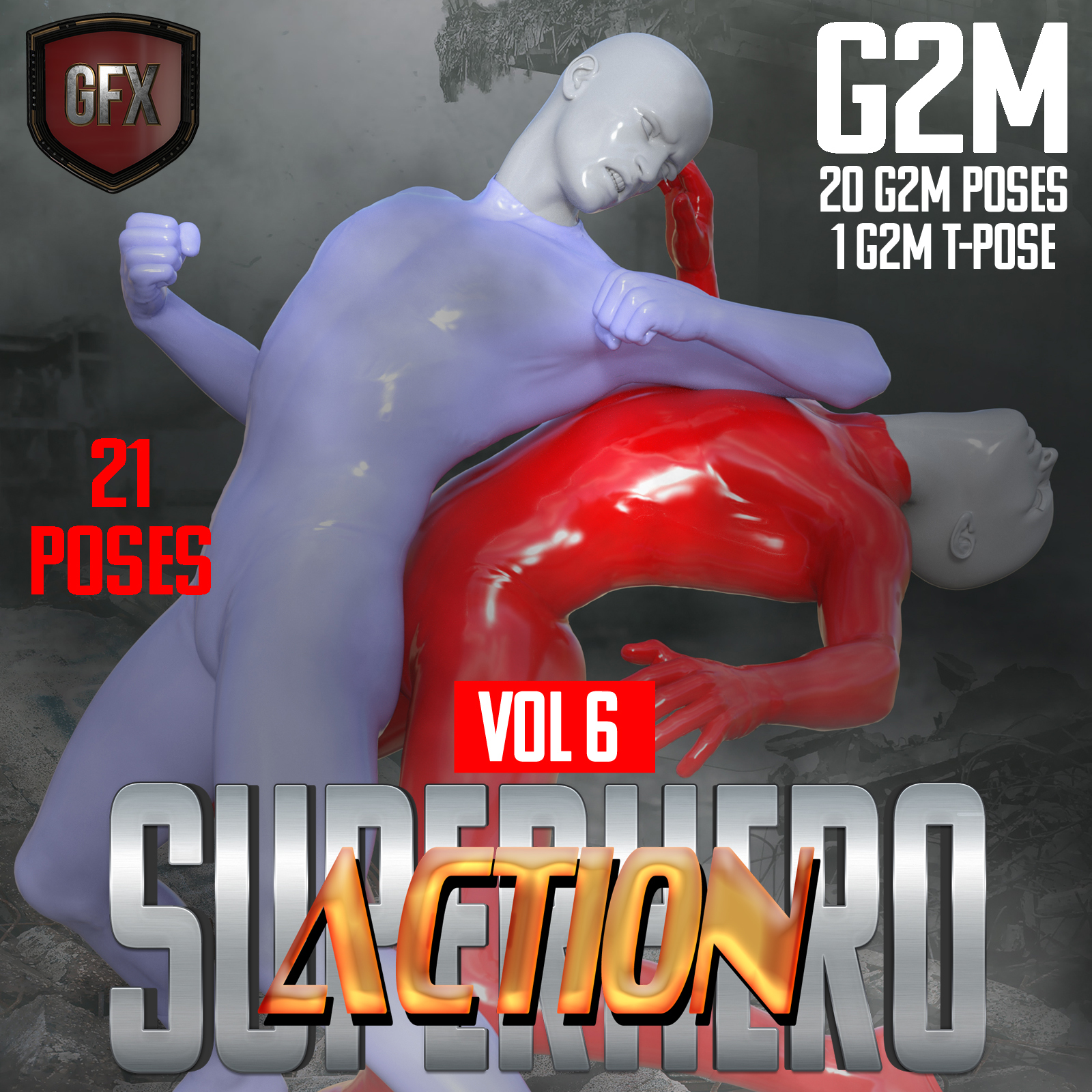 SuperHero Action for G2M Volume 6 by GriffinFX
