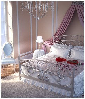 Romantic Bedroom 3D Models RPublishing