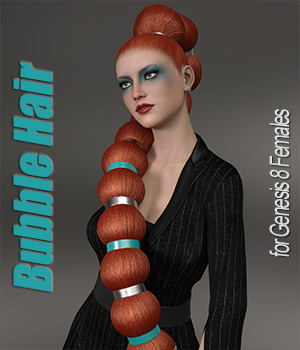 Bubble Hair for Genesis 8 Female  3D Figure Assets ArtTailor