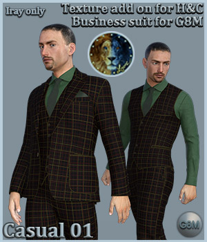 Casual 01 for H and C Business Suit for G8M 3D Figure Assets Lyone