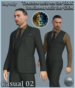 Casual 02 for H and C Business Suit for G8M 3D Figure Assets Lyone