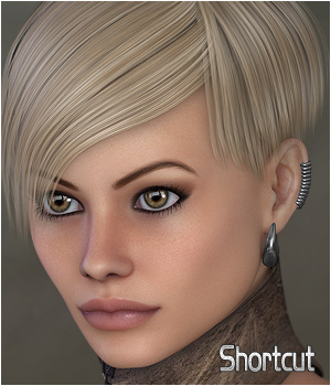 ShortCut Hair 3D Figure Assets Extended Licenses digiPixel
