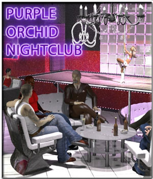Purple Orchid Nightclub 3D Models 3-d-c