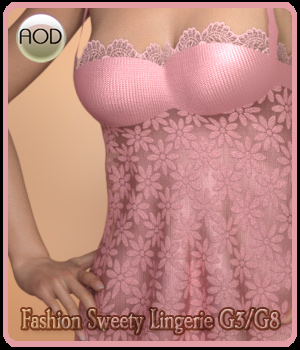 Fashion Sweety Lingerie G3/G8 3D Figure Assets ArtOfDreams