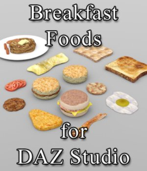 Breakfast Foods - for DAZ Studio  3D Models VanishingPoint