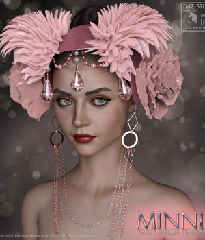 Minnie 1920's Dancer Headdress G8 3D Figure Assets The_Row_House