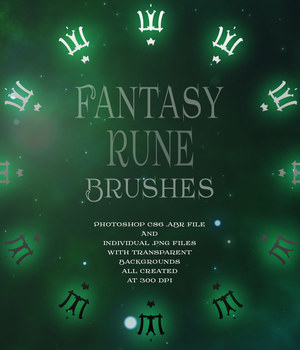 Fantasy Rune Brushes 2D Graphics antje