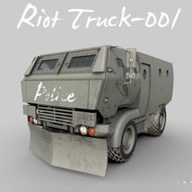 Riot Truck-001 -Extended License image 1