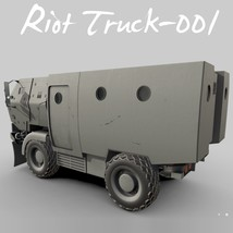 Riot Truck-001 -Extended License image 6