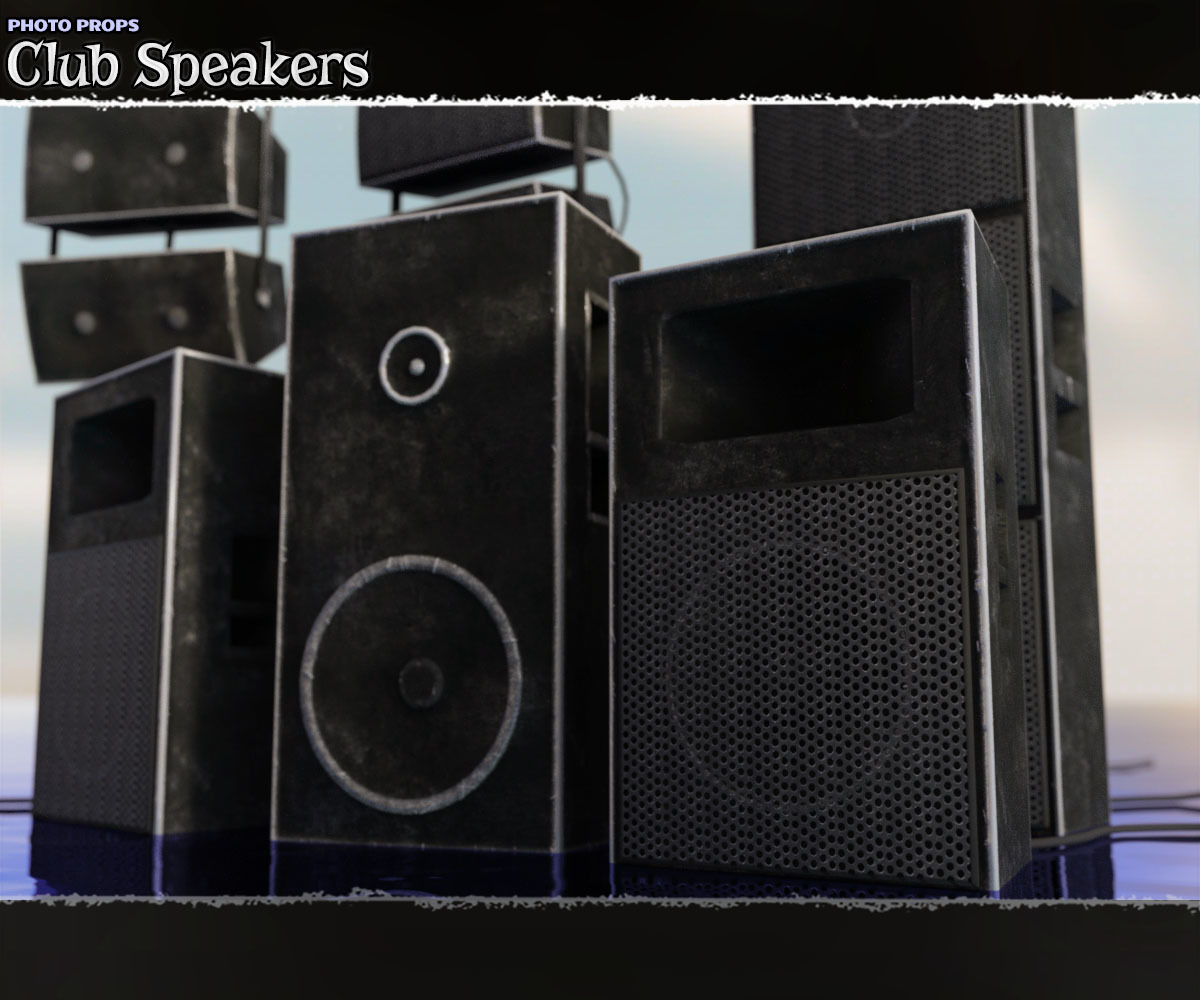Photo Props: Club Speakers - Extended License