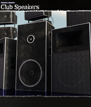 Photo Props: Club Speakers - Extended License 3D Models Extended Licenses ShaaraMuse3D