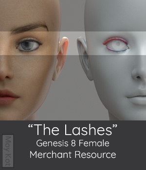 MYKT The Lashes Genesis 8 Female - Merchant Resource 3D Figure Assets Merchant Resources MoyKot