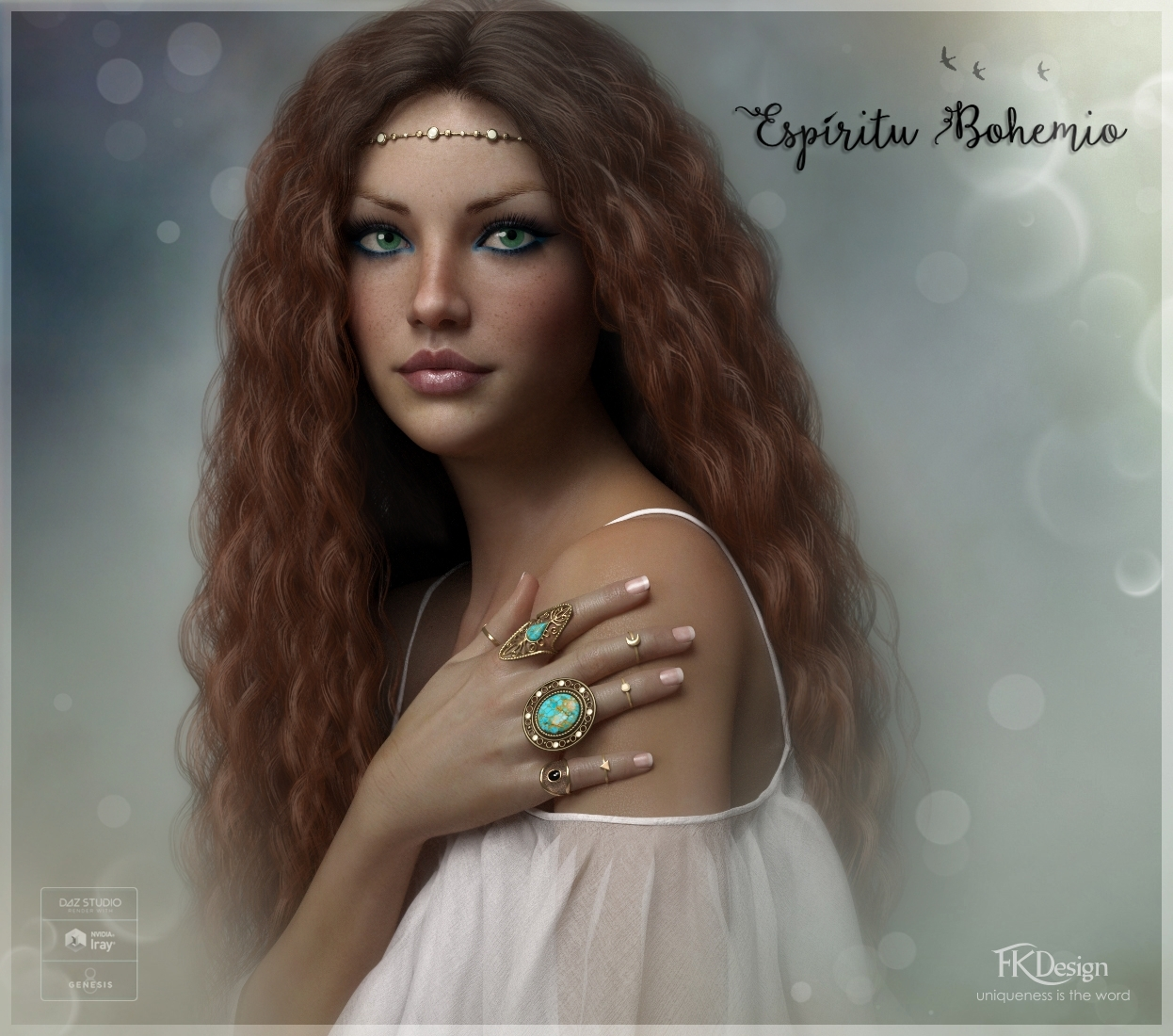 Espiritu Bohemio Rings for Genesis 8 Females