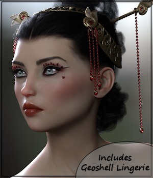 3DA Davinia: Queen of Hearts for G8F 3D Figure Assets 3-DArena