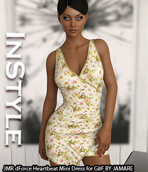 InStyle - JMR dForce Heartbeat Mini Dress for G8F 3D Figure Assets -Valkyrie-
