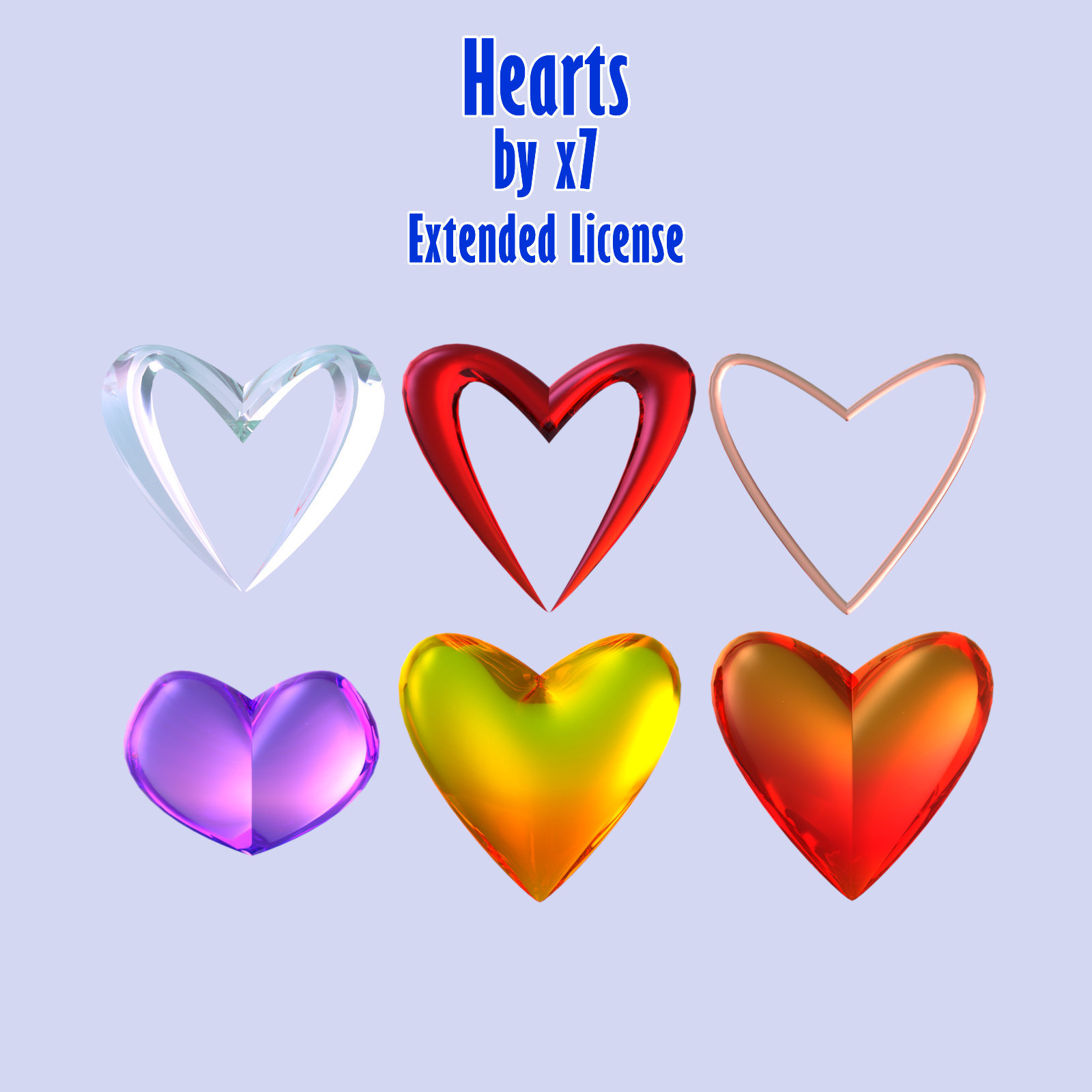 Hearts by x7 - Extended License