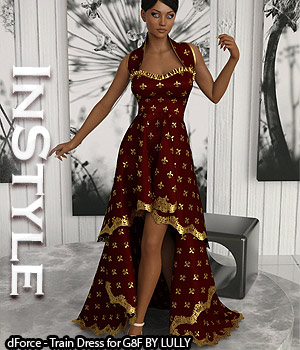InStyle - dForce - Train Dress for G8F 3D Figure Assets -Valkyrie-