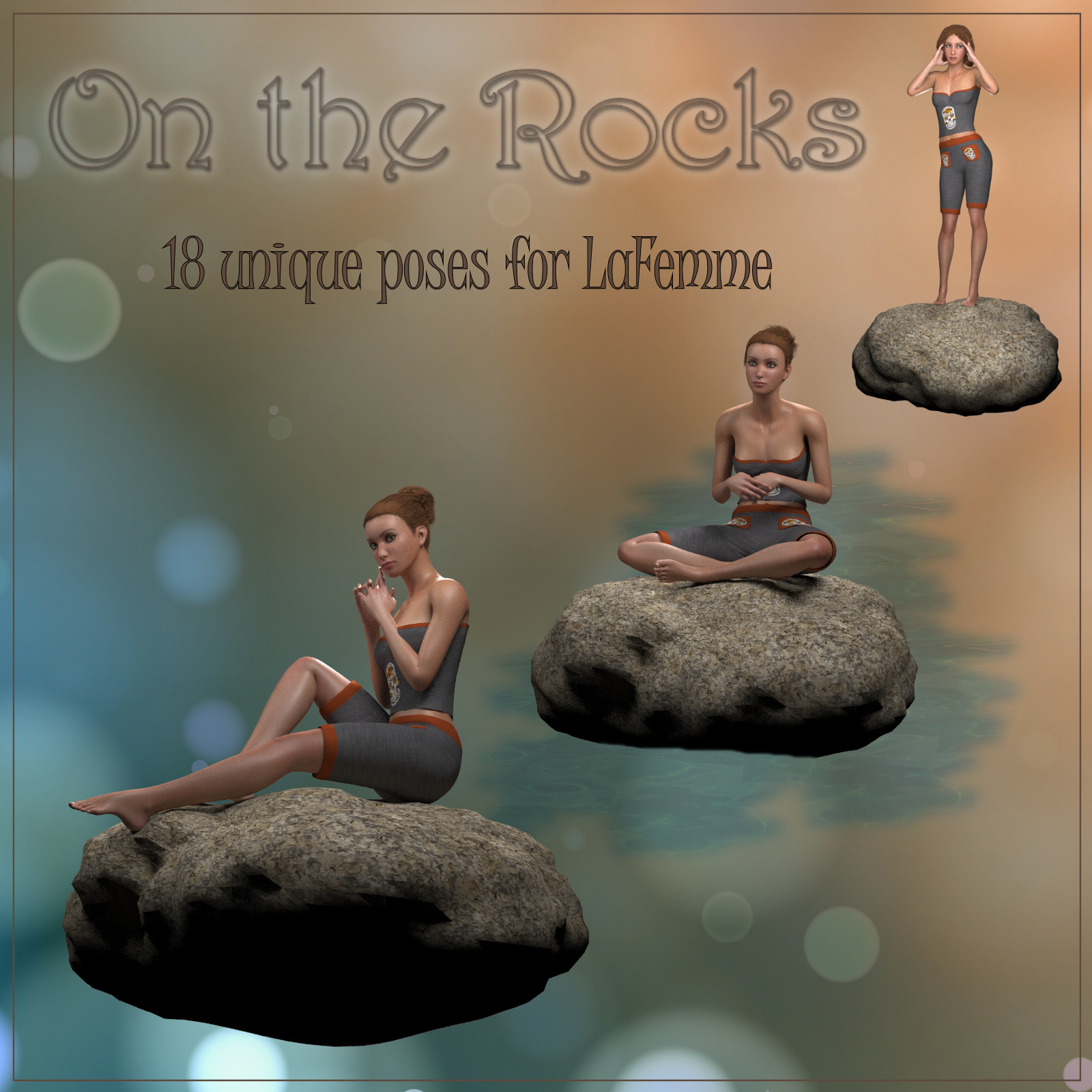 On The Rocks - Poses for La Femme by pixpax