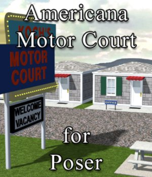 Americana Motor Court for Poser 3D Models VanishingPoint