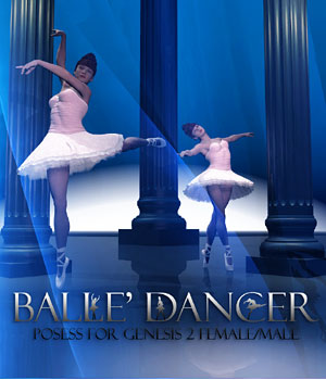 Balle' Dancer Poses for G2F/M 3D Figure Assets RajRaja