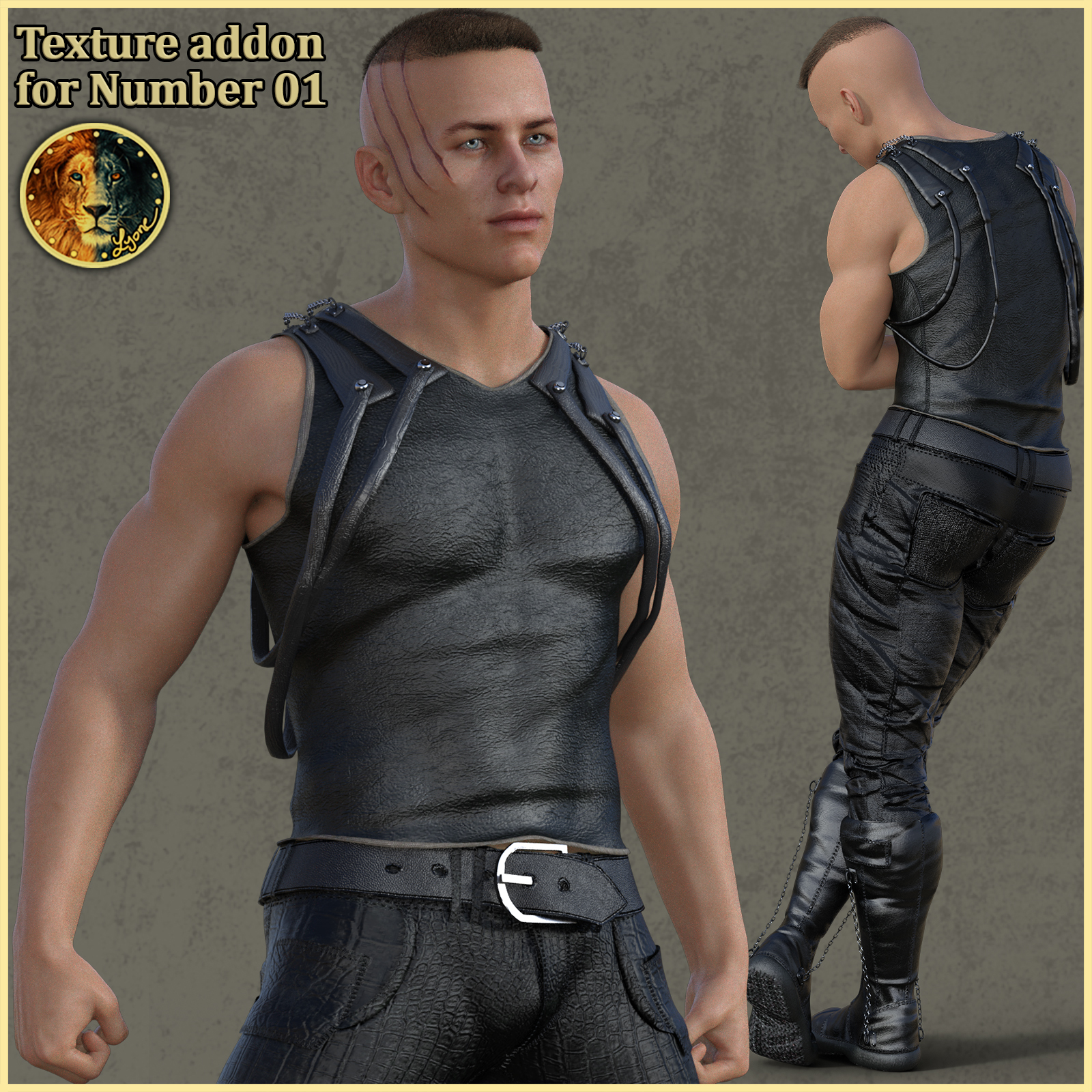 Texture addon for Number 01 outfit for G8M
